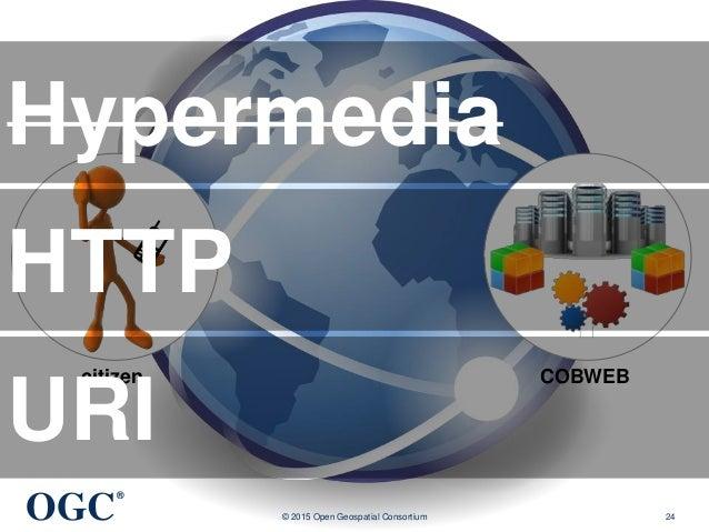 OGC ® © 2015 Open Geospatial Consortium 24 COBWEBcitizen Hypermedia HTTP URI