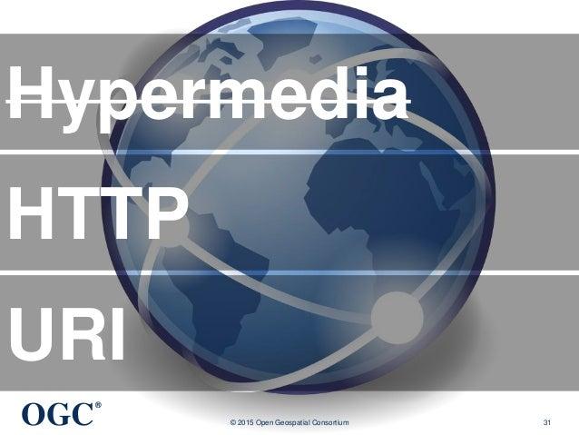OGC ® © 2015 Open Geospatial Consortium 31 Hypermedia HTTP URI