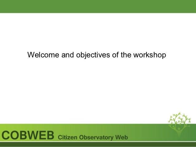 COBWEB Authentication Workshop Slide 2