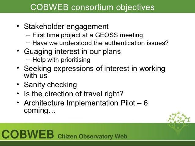 COBWEB Authentication Workshop Slide 3