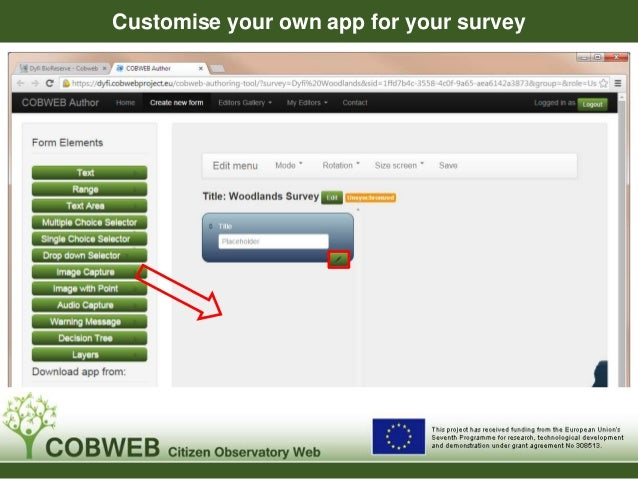 Customise your own app for your survey