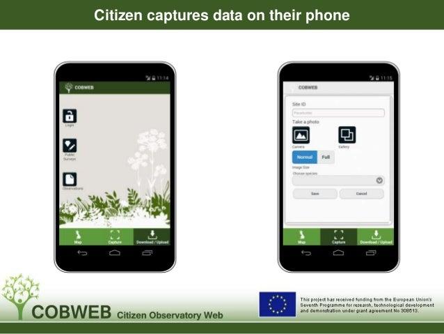 Citizen captures data on their phone