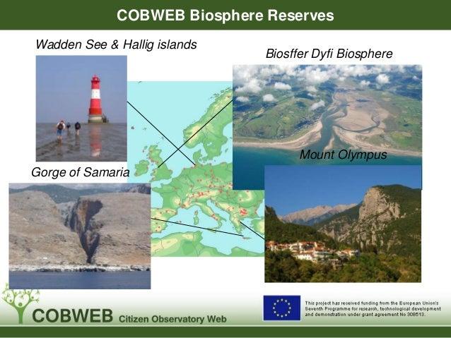 COBWEB Biosphere Reserves Biosffer Dyfi Biosphere Mount Olympus Gorge of Samaria Wadden See & Hallig islands