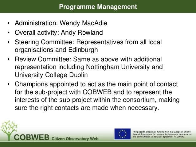 """COBWEB """"Champions""""  Lead Organisation Project Name Champion  Awdurdod Parc  Arolwg Llysiau'r Dial Eryri –  Cenedlaethol Er..."""