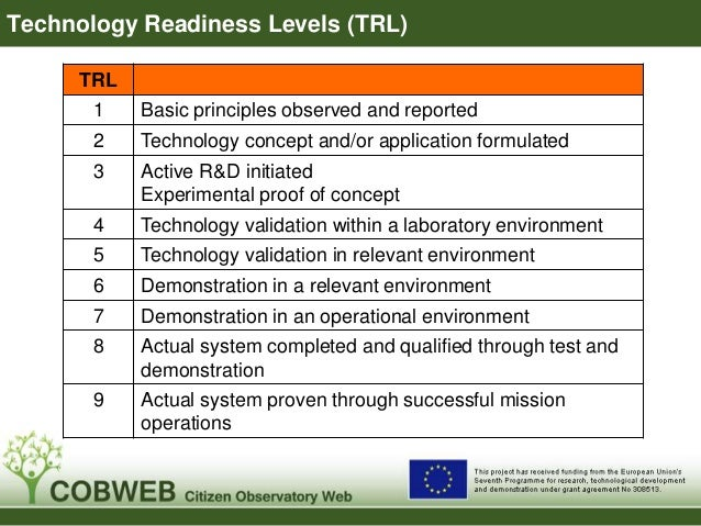 Overall Project Status  Mainly  medium to  high TRLs  Requires  high TRLs  By definition,  lower TRLs  1. Project started ...