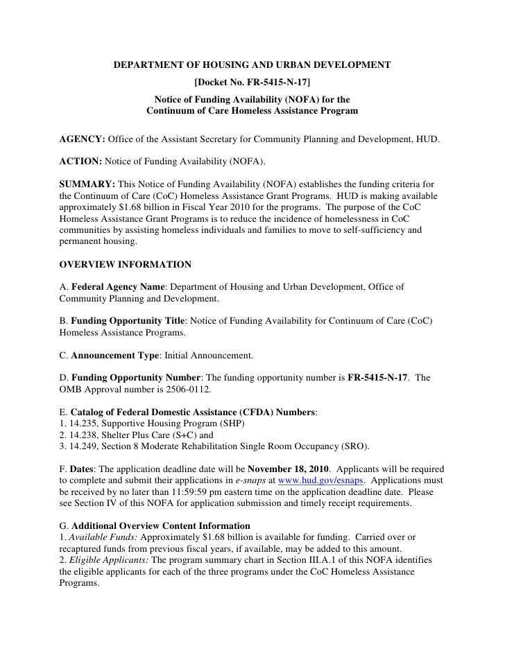 DEPARTMENT OF HOUSING AND URBAN DEVELOPMENT                                  [Docket No. FR-5415-N-17]                    ...