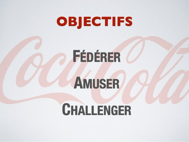 OBJECTIFS FÉDÉRER  AMUSERCHALLENGER