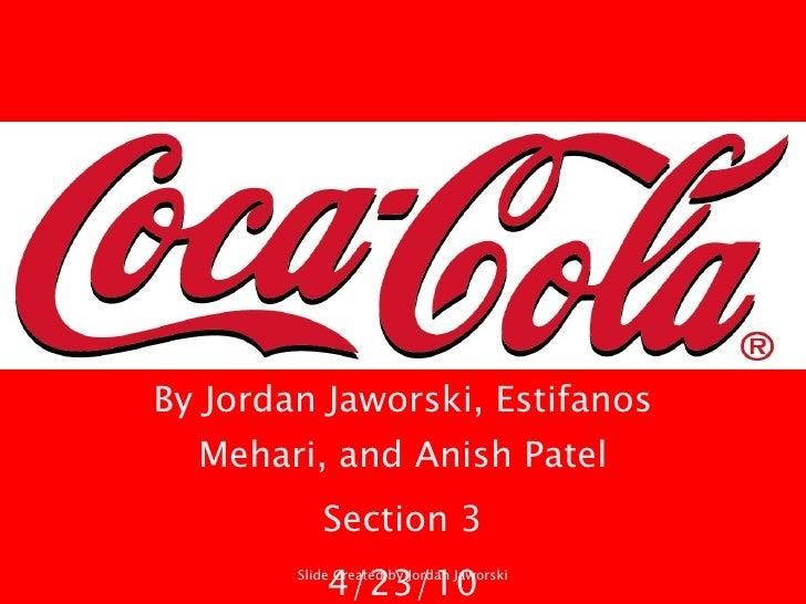 By Jordan Jaworski, Estifanos Mehari, and Anish Patel Section 3 4/23/10