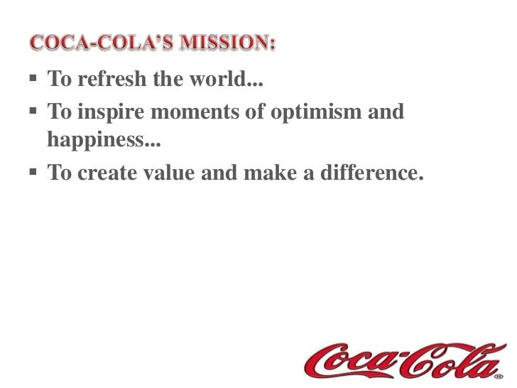 coca cola s marketing strategy Coca-cola is launching its first global marketing campaign in more than a decade as it takes its 'one brand' strategy global.