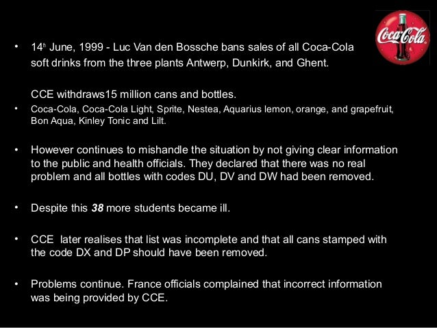 coca cola pr crisis in belgium Latest news about public relations and communications from prweek, leading source of information for the pr industry.