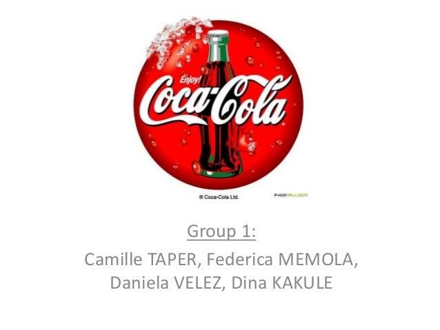 Group 1:Camille TAPER, Federica MEMOLA,  Daniela VELEZ, Dina KAKULE