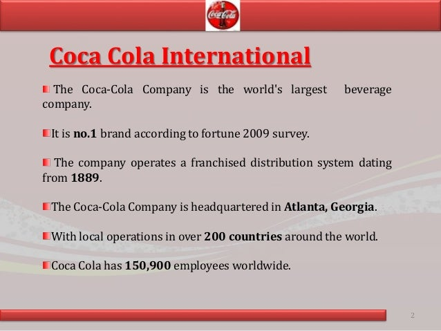 coca cola case study analysis Coca cola bottler case study coca cola european partners deploy integrum to deliver integrated qesh, supplier management, commercialisation & product stewardship system coca cola european partners, the world's largest bottler of coca cola products, operates in over 15 countries in uk, europe and nordic region with over 30 manufacturing.