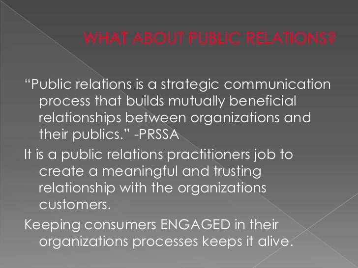 public relations and social media If you are a public relations or communication professional , your job probably has been drastically affected by the rapid developments in social media and technology from owning a school email to.