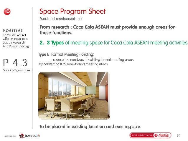 Coca cola office design brief