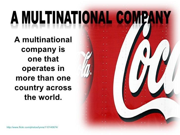 Is the coca cola company a multinational enterprise