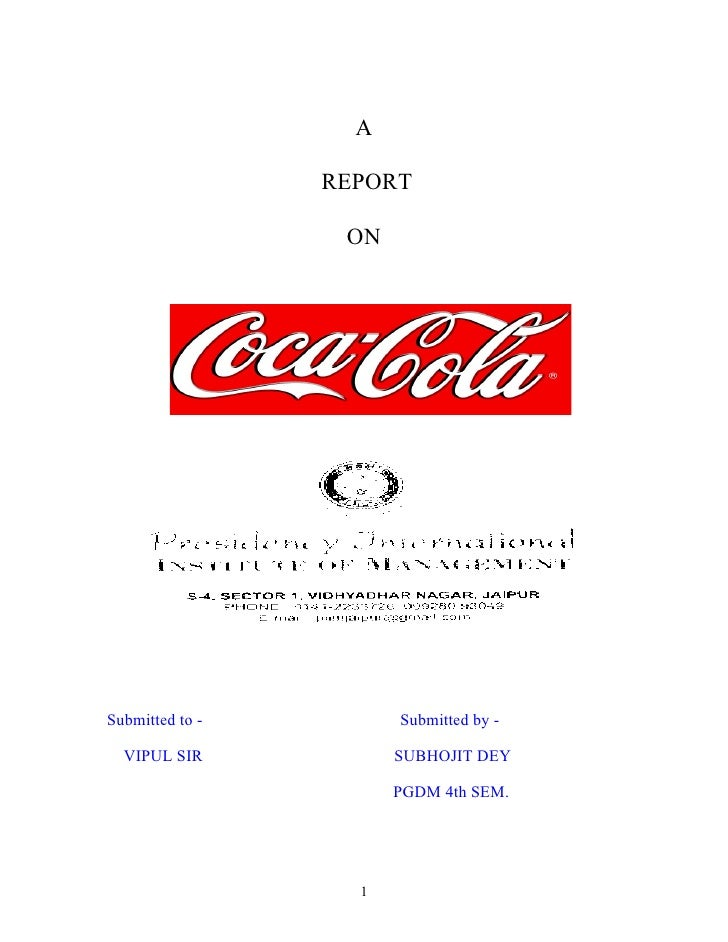 A                 REPORT                  ONSubmitted to -         Submitted by -  VIPUL SIR            SUBHOJIT DEY      ...