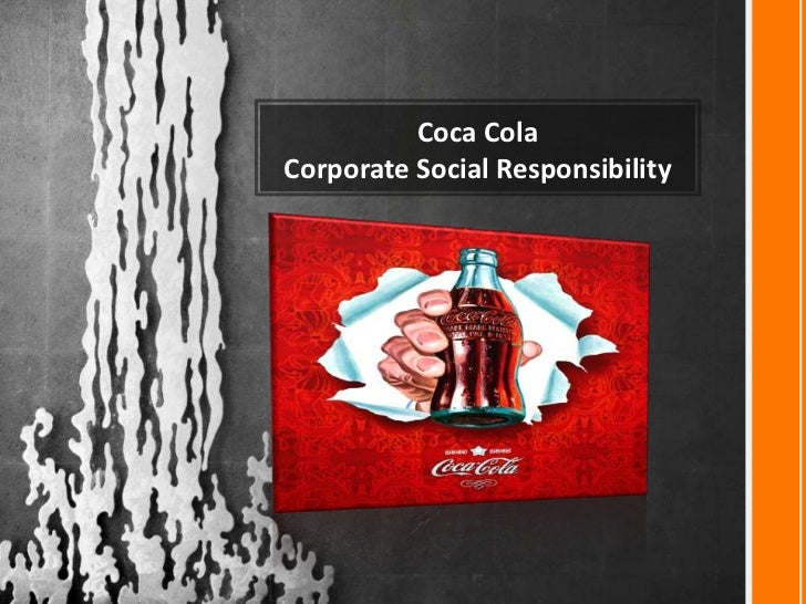 Coca ColaCorporate Social Responsibility