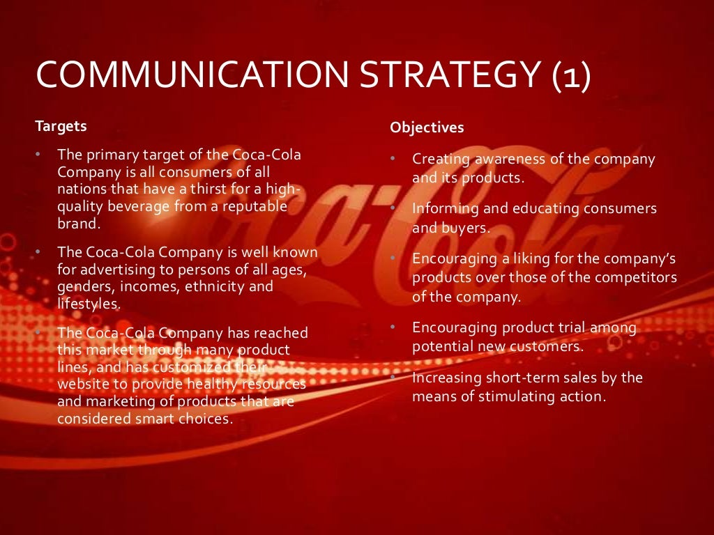 coca cola smart objectives