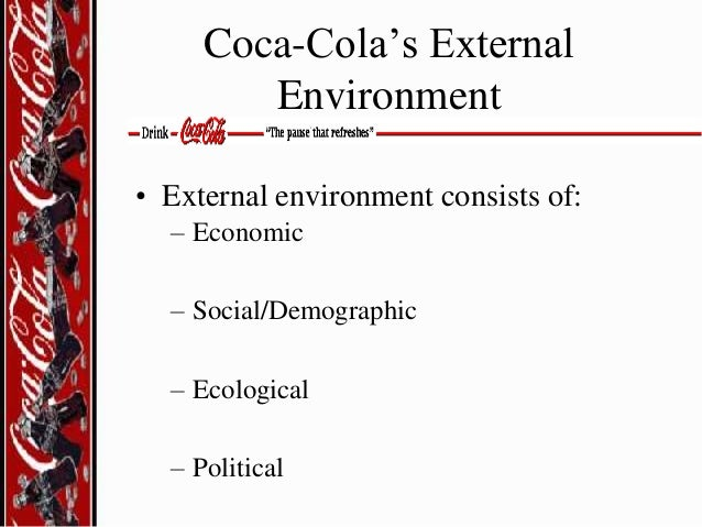 coca cola external environmental scanning The market analysis is responsible for monitoring the company's both external  and internal environment coco cola uses this strategy to watch.