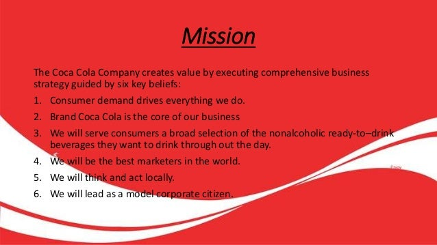 coca cola values