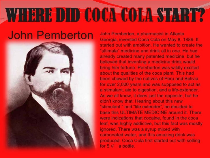 Image result for invention of coca cola