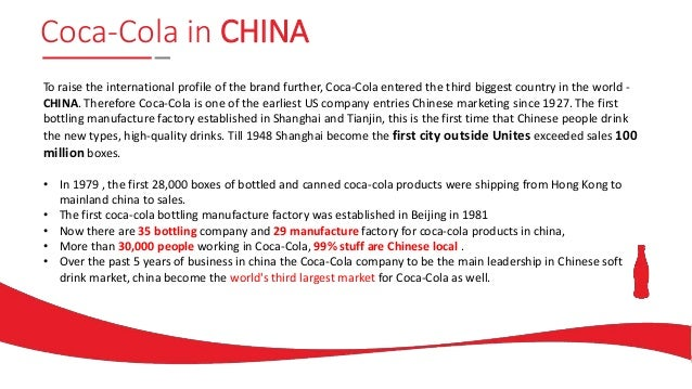 CocaCola Market entry strategy