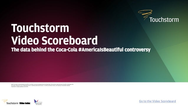 Touchstorm Video Scoreboard The data behind the Coca-Cola #AmericaIsBeautiful controversy  Video Index  Go  to  the  ...