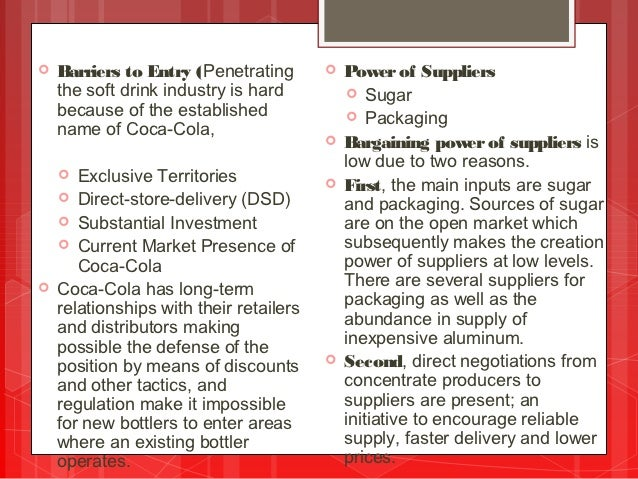 coke porters diamond This ebook describes porter's five forces framework, a technique that provides  a model for industry  coca-cola defined its market and therefore its competitors  as being in the 'soft drinks'  debeers—dominates the diamond market.