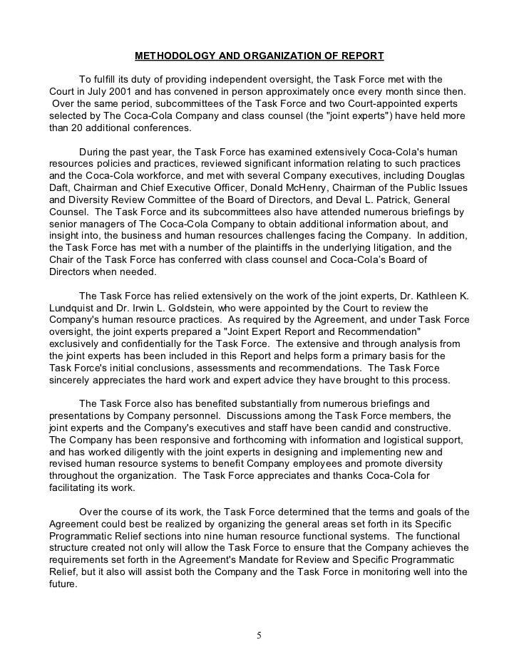 Evaluation Essay Example   Financial Aid Essay also Good Essay Format Coca Cola Companytask Force Report Argumentative Essays On Abortion
