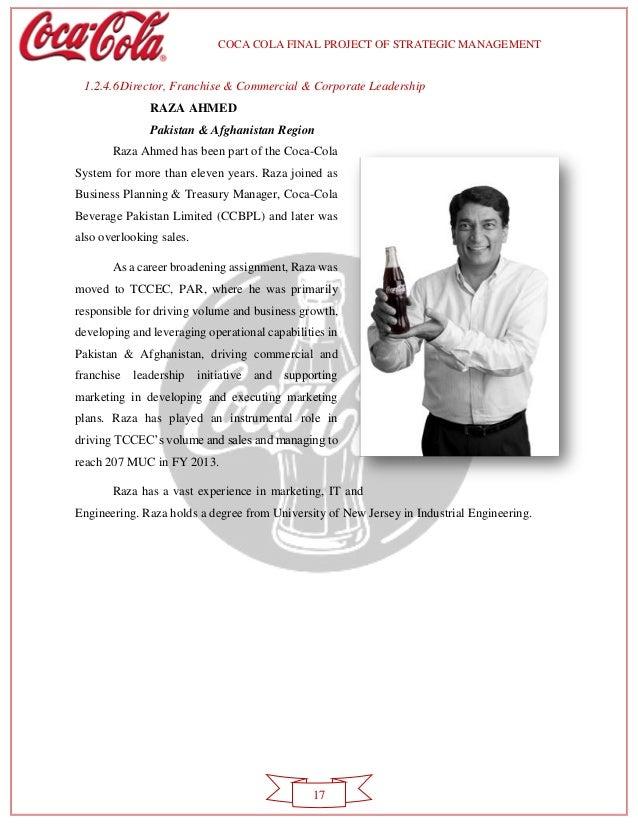 Corporate strategic management for coca cola
