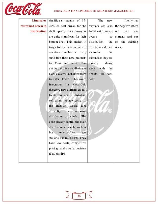 analysis of coca cola co ltd Long-term debt and solvency analysis financial reporting quality relates to the accuracy with which coca-cola co's reported financial statements reflect its.