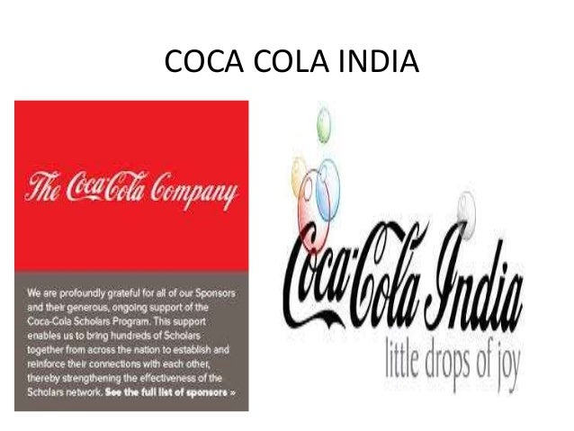 coca cola india an overview Coca cola executive summary 1 by: team awesome-michelle-astha-lauren-john 2 new products produced almost daily factors influencing consumer consumption: weather consumer taste demographics lifestyles coca-cola is the worlds largest manufacture, distributor and marketer of non-alcoholic beverages carry over 3500 different products.