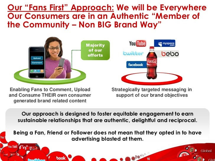 Our Fan Focused approach has yielded a Highly Engaged fan community…<br />Coke fans interact with each other, and the bran...