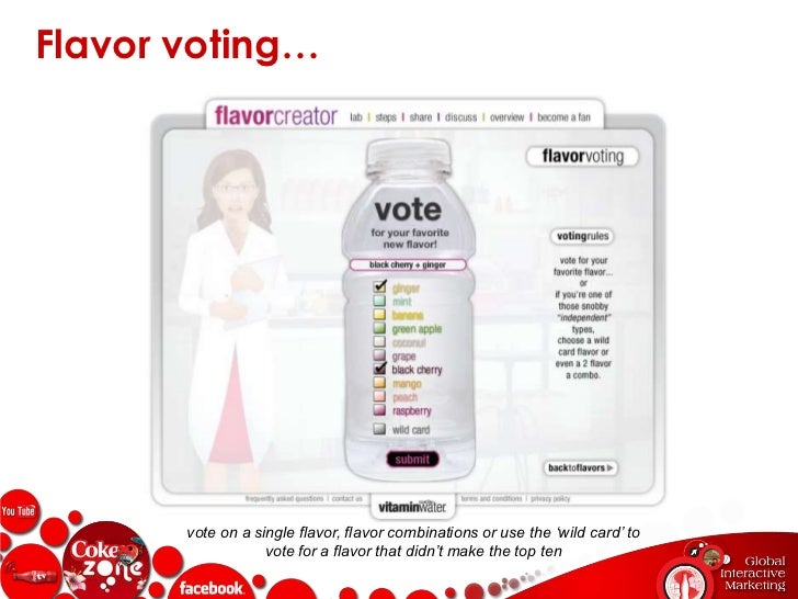 Vitamin Water's Flavor Creator…<br />flavor creator lab environment within the vitaminwater facebook fan page<br />24<br />