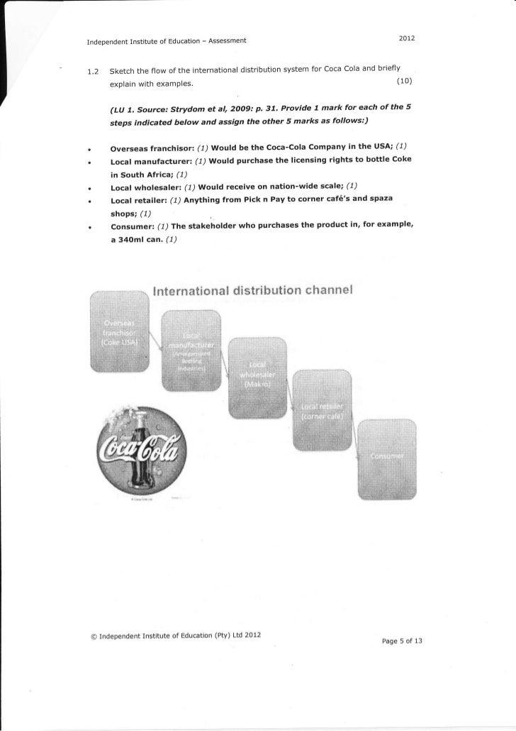 coca cola assessment memo Vending machines specification version 30  coca-cola (pdf, 100 kb) crane (pdf,  memo to launch energy star specification revision process .