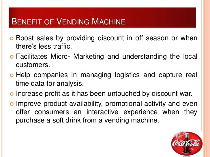 Coca Cola New Vending Machine Pricing to Capture Value, or Not?