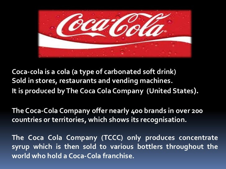 the coca cola company essay Coca-cola co usa goes even more local, focuses on community action in next wave of company communications effort  americans will.