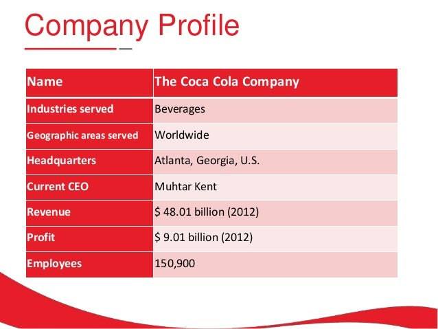 coke profile As a primer for your world of coca-cola visit or simply to learn more, check out the history of coca cola.