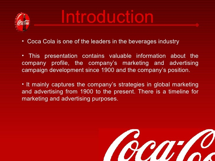 history and description of coca cola Discover all statistics and data on coca-cola company now on statistacom.