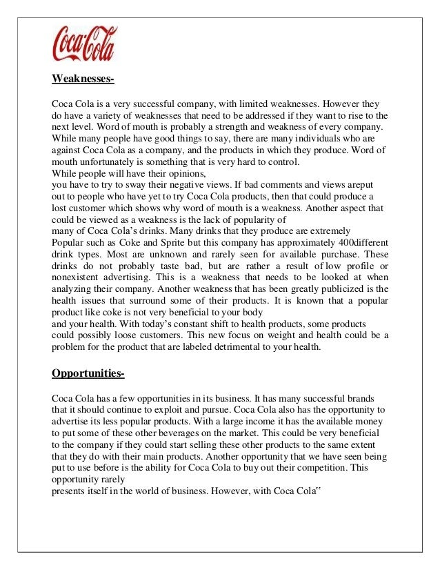 project charter on coca cola Coca-cola project charter 2 charter two range after a deep research on latam supermarket channel coca-cola defined 5 key touch points to activate.