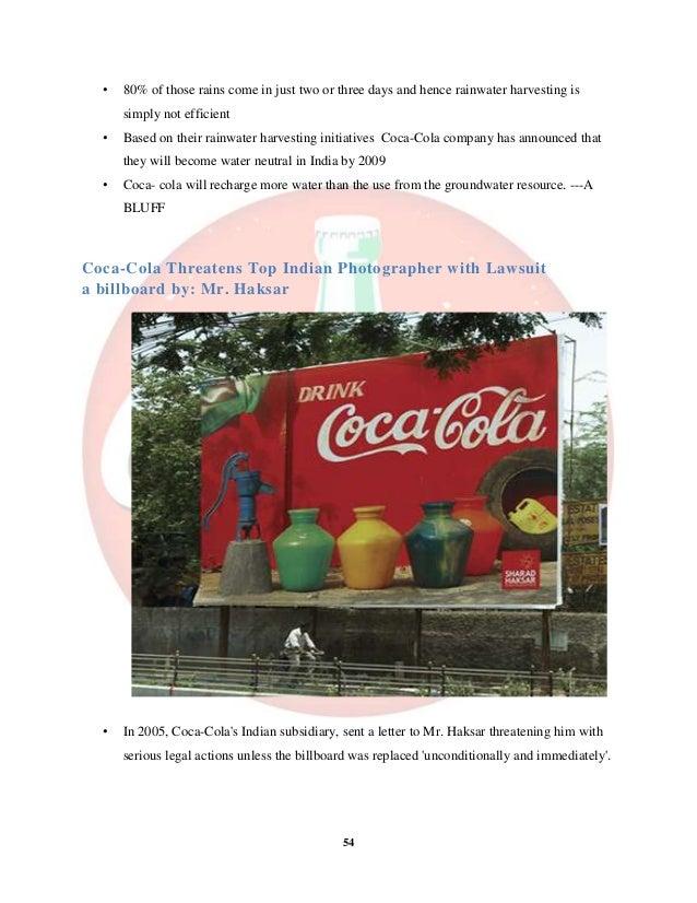 Coca Cola Water Neutrality Initiative