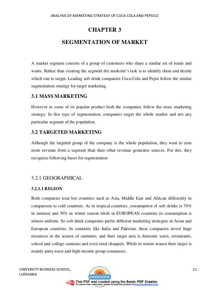Pepsi Vs. Coca-Cola Financial Analysis&nbspEssay