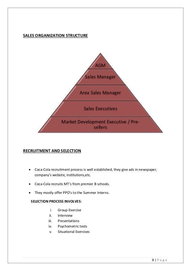 coca cola business structure ( Organizational Chart)