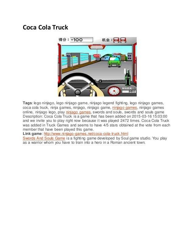 Coca Cola Truck Tags: lego ninjago, lego ninjago game, ninjago legend fighting, lego ninjago games, coca cola truck, ninja...