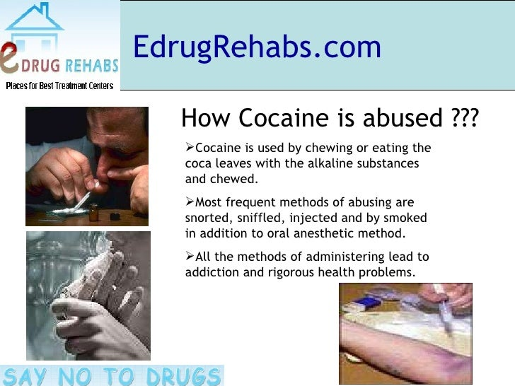 side effects of chronic cocaine use Drug addiction disease drug addiction leads to a host of diseases – particularly chronic conditions that affect the body's vital organs  heart disease in itself is common to chronic cocaine users, due to the overexertion of the heart as a result of the drug's stimulant effects cocaine users also experience perforated or deviated.