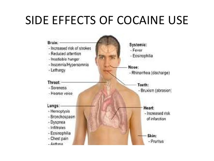 Effects of cocaine regarding sex
