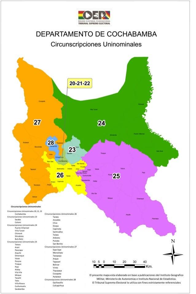 Cochabamba mapa electoral