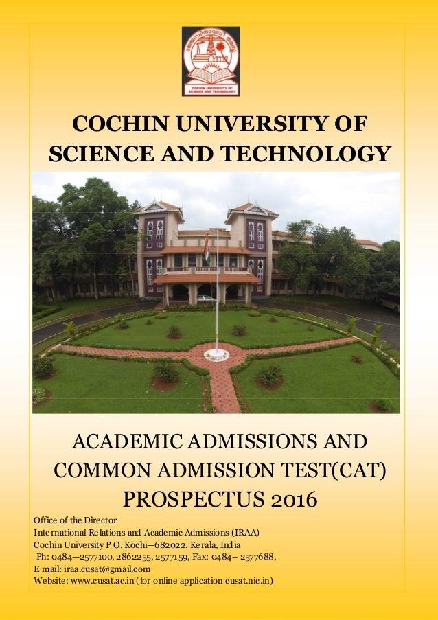 Cochin university of science & technology prospectus 2016 17 educat…