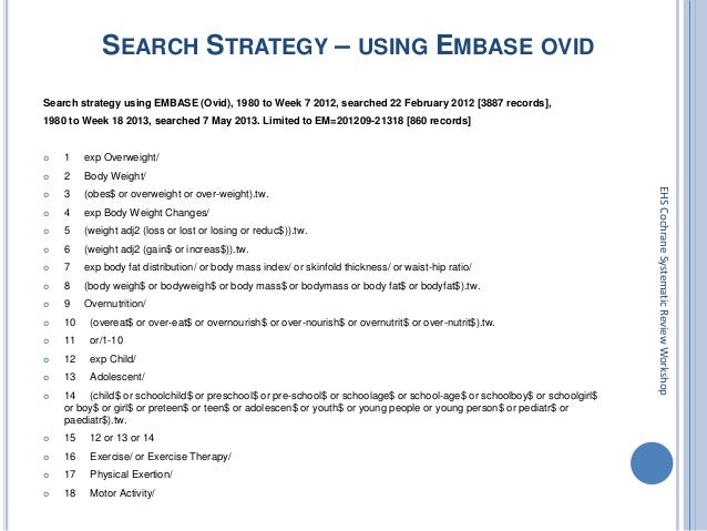 Systematic Search Strategies