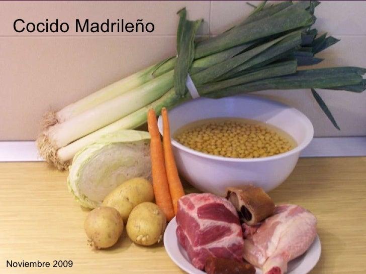 Cocido Madrileño Noviembre 2009